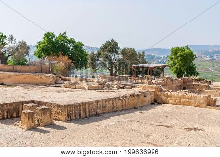 Tomb of the Prophet Samuel, near Jerusalem in Judea Desert, Israel