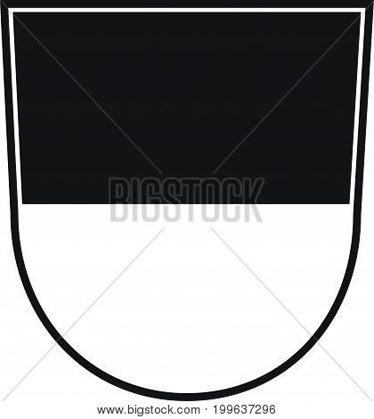 Coat of arms of Ulm is a city in Baden-Wurttemberg Germany. Vector illustration from the