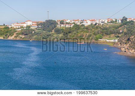 Mira River In Vila Nova De Milfontes