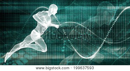 Sport and Fitness Supplements and Performance Enhancers 3D Illustration Render poster