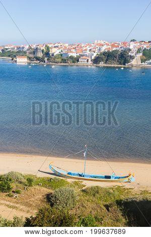 Boat In Mira River In Vila Nova De Milfontes