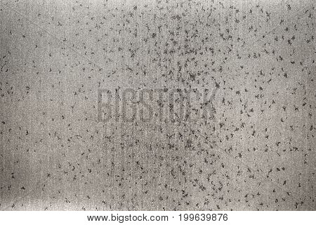 Gray Sheet Metal Background, Brushed Steel Texture