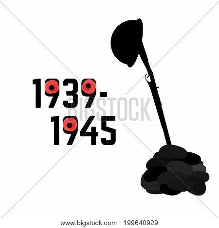 World War second 1939 -1945 vector illustration