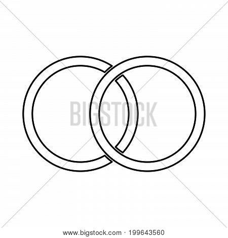 Wedding Rings Black Color Icon .