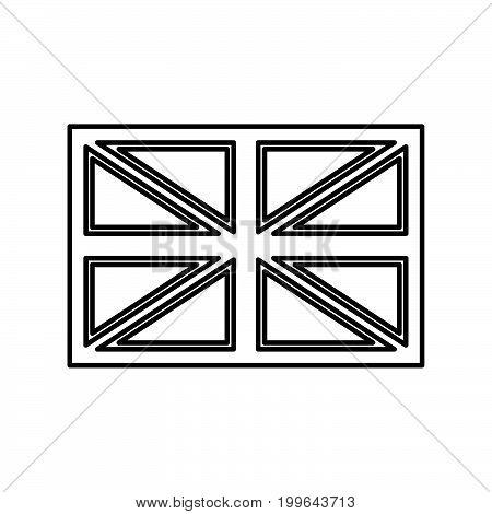 Flag United Kingdom Black Color Icon .