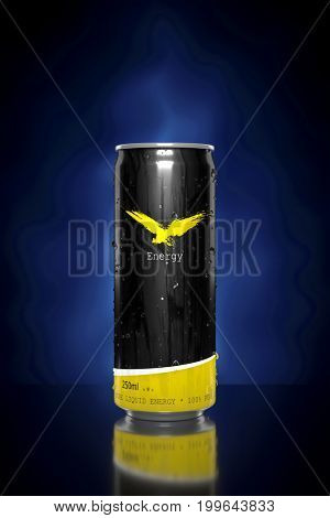 3d rendering of a typical energy drink