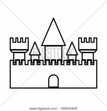 Castle Black Color Icon .