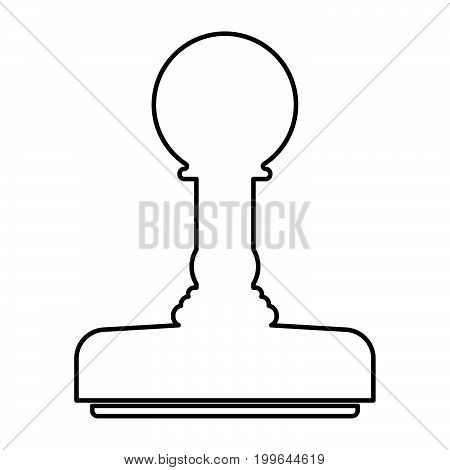 Rubber Stamps  Black Color Icon .