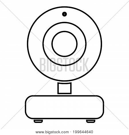 Web Camera Black Color Icon .