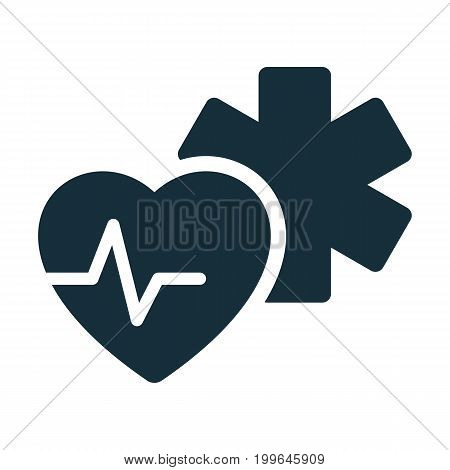 Medical Star Life Heart Pulse Icon