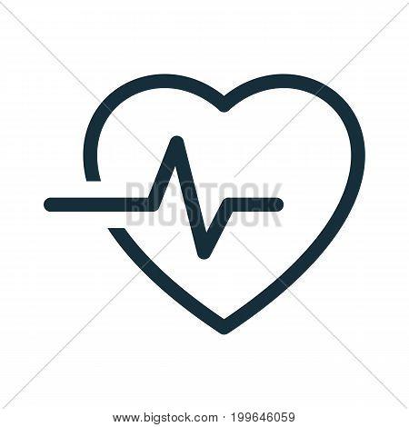 Heart Pulse Cardiogram Icon