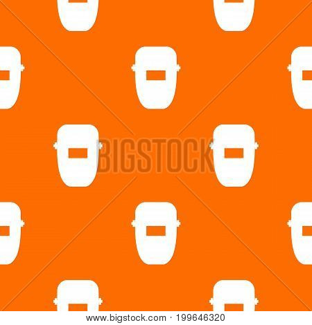 Welding mask pattern repeat seamless in orange color for any design. Vector geometric illustration