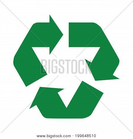 Recycle Icon Green Connected