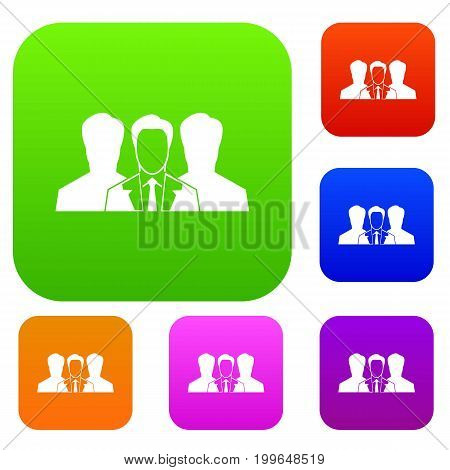 Recruitment set icon in different colors isolated vector illustration. Premium collection