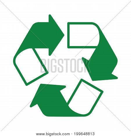 Recycle Icon Green Half Transparent
