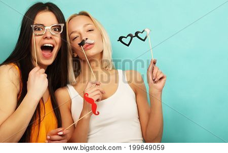 lifestyle, beauty and people concept:  hipster girls best friend