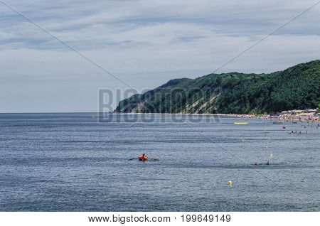 SEA COAST -  Seascape overlooking the cliffs of the Wolin National Park in Poland