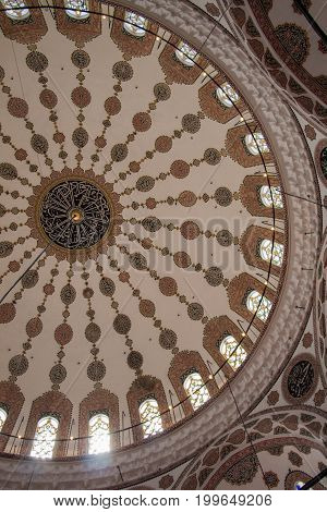 Inner View Of Dome In Ottoman Architecture