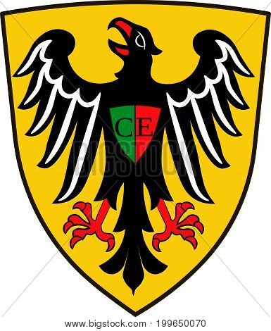 Coat of arms of Esslingen am Neckar is a city in the Stuttgart Region of Baden-Wurttemberg Germany. Vector illustration from the