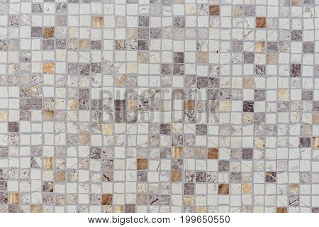 Texture of a ceramic mosaic background blue and gray colors