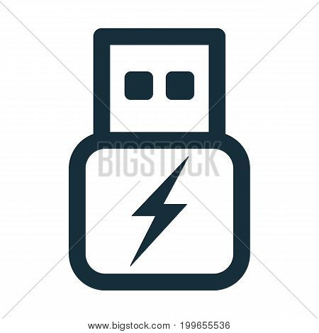 Usb Flash Power Charge Transparent Icon