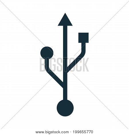 Usb Icon Black Thin