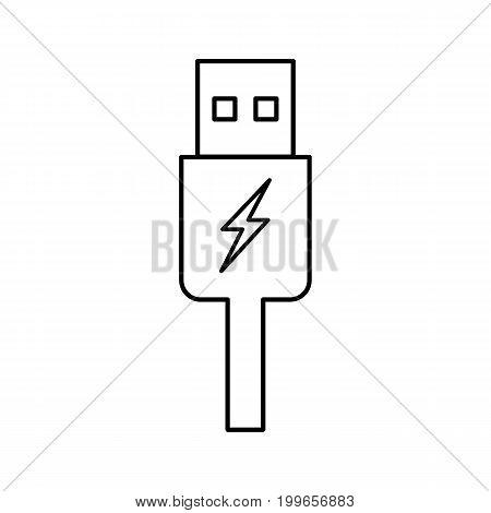 Usb Charging Plug Icon On White Background