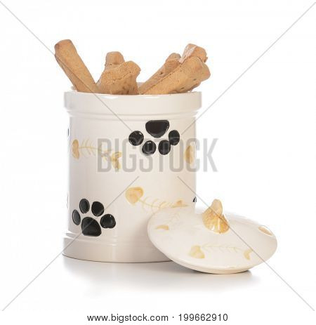 dog bones in a jar