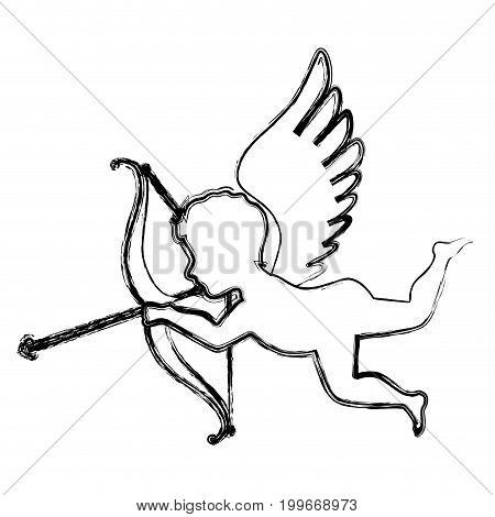 cupid angel isolated icon vector illustration design