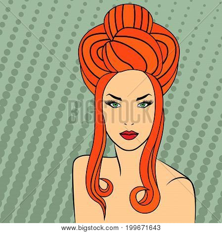 Red-haired Retro Style