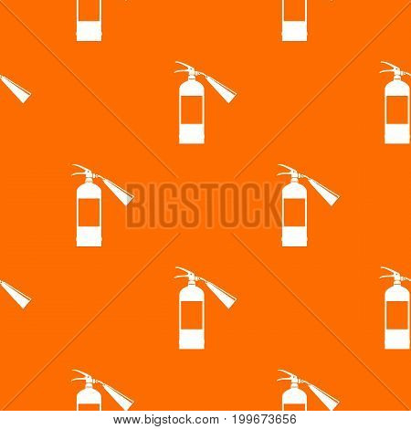 Fire extinguisher pattern repeat seamless in orange color for any design. Vector geometric illustration