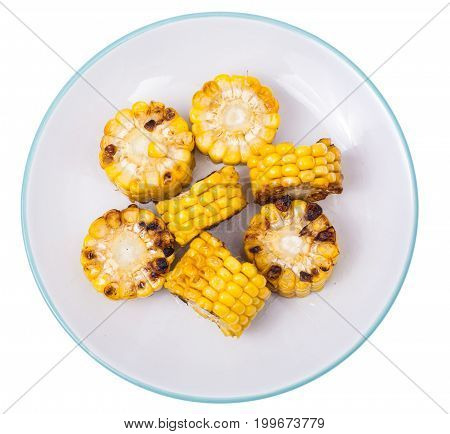 Meal of corn on the grill. Studio Photo