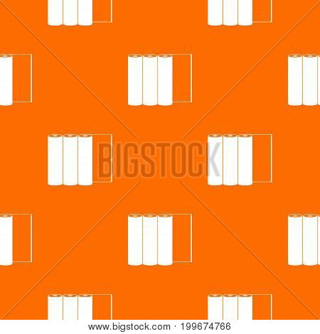 Rolls of paper pattern repeat seamless in orange color for any design. Vector geometric illustration