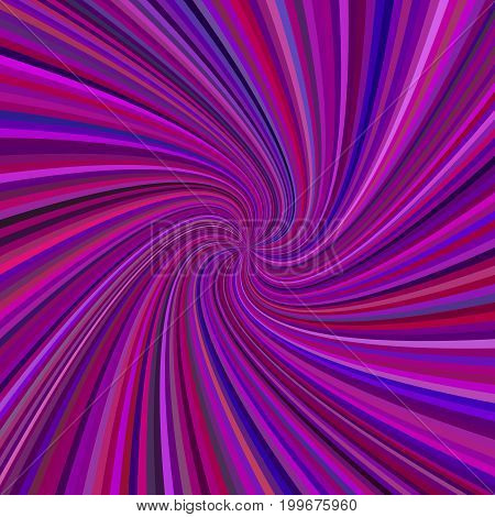 Purple spiral background - vector graphic design from rotating rays in colored tones