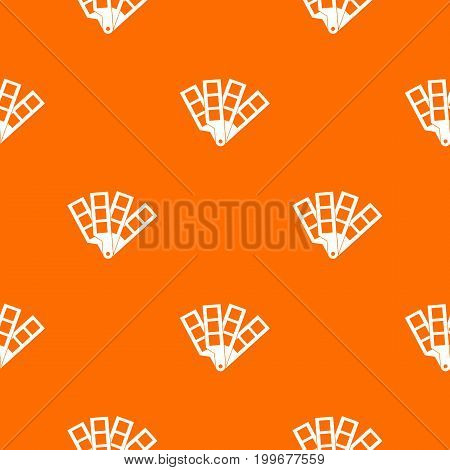 Color palette guide pattern repeat seamless in orange color for any design. Vector geometric illustration