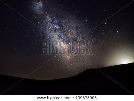 Milky Way over the Plateau of Muses at the mythical Mount Olympus
