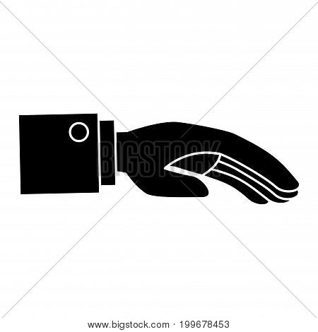 Hand asking isolated icon vector illustration design