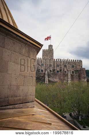 Jakeli Castle medieval castle complex in Akhaltsikhe, Rabati Castle, Georgia. Lomisa Castle.