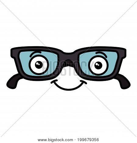 eye glasses kawaii character vector illustration design