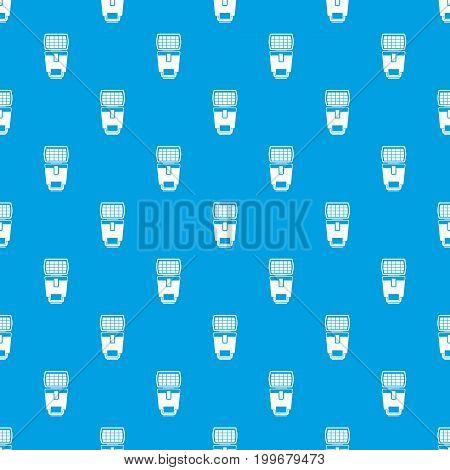 Lighting flash for camera pattern repeat seamless in blue color for any design. Vector geometric illustration