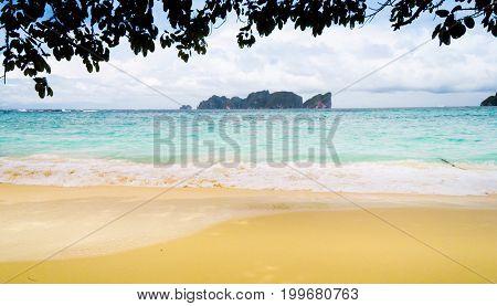 Cloudy Landscape Wet Sand
