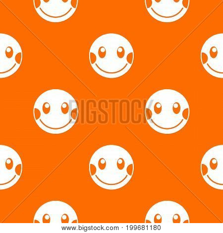 Embarrassed emotpattern repeat seamless in orange color for any design. Vector geometric illustration