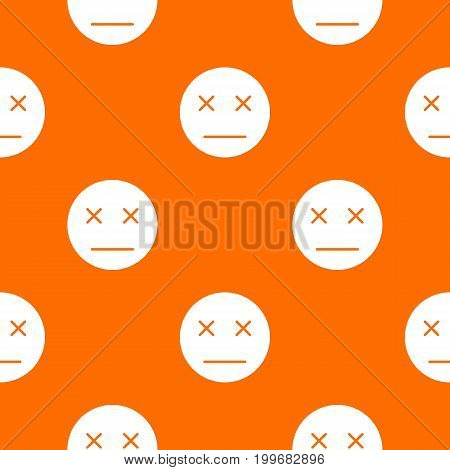 Dead emotpattern repeat seamless in orange color for any design. Vector geometric illustration