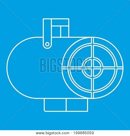 Heat gun icon blue outline style isolated vector illustration. Thin line sign