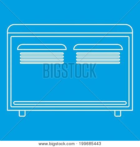 Convector heater icon blue outline style isolated vector illustration. Thin line sign