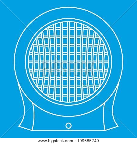 Heater icon blue outline style isolated vector illustration. Thin line sign
