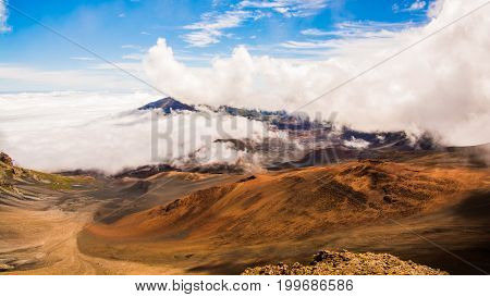 Beautiful Haleakala is a massive shield volcano on the island of Maui in Hawaii.