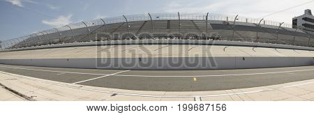 Pit Row And Backstretch At Motor Speedway