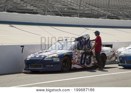 Nascar Driver On Pit Row