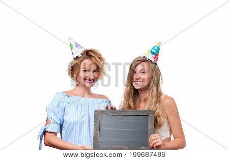Beautiful Happy Girsl Celebration Birthday Party.